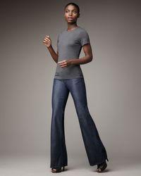 PAIGE | Blue Bentley Hanalei Wide-leg Jeans | Lyst