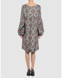 See By Chloé   Blue Cotton- Popeline Printed Dress   Lyst