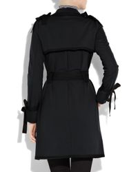 Sonia by Sonia Rykiel - Blue Bow-embellished Jersey Trench Coat - Lyst