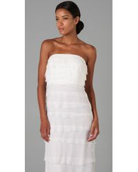 Adam Lippes - White Long Tiered Dress - Lyst
