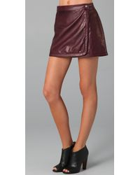 A.L.C. | Red Daltrey Leather Skirt | Lyst