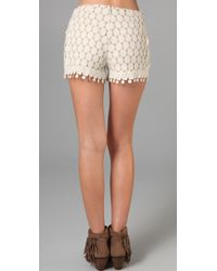 Anna Sui - Natural Circle Lace Shorts - Lyst