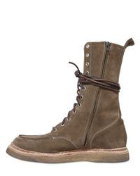 Balmain | Natural Beige Suede Ranger Boots with Velcro Fastener for Men | Lyst