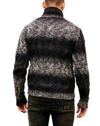 Dolce & Gabbana - Blue Turtleneck Woven Wool Blend Sweater for Men - Lyst