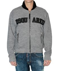 DSquared² - Gray Dsquared Melange Cotton Sweatshirt for Men - Lyst