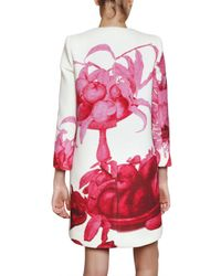 Giambattista Valli - Red Floral Print Coat - Lyst