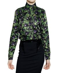 Givenchy | Black Pansy Shirt | Lyst