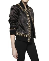 Givenchy | Black Ribbed Polyester Duchesse Blouson | Lyst