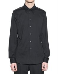 Givenchy - Black Zip Shoulder Shirt for Men - Lyst