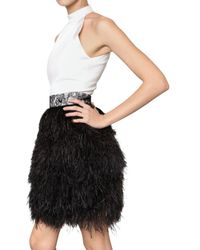 Givenchy - White Feather Halter Dress - Lyst