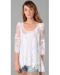 Pencey | White Lace Tunic | Lyst