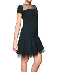 RED Valentino | Black Flared Tulle Dress | Lyst