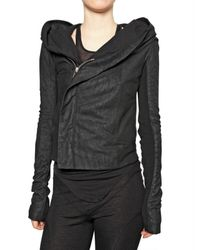 Rick Owens | Black Blister Leather Jacket | Lyst