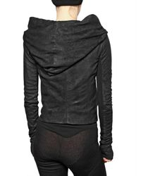 Rick Owens - Black Blister Leather Jacket - Lyst