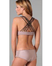 Tori Praver Swimwear | Black Reversible Malia Bikini Top | Lyst