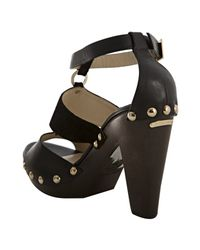 Jimmy Choo - Black Ursula Suede and Leather Sandals - Lyst