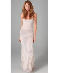 Free People   White Striped Maxi Dress   Lyst