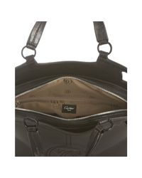 Cartier | Black Leather Logo Top Stitched Top Handle Bag | Lyst