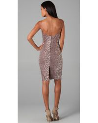 Rachel Roy - Purple Leopard Cocktail Dress - Lyst