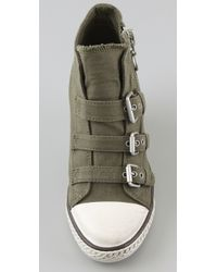 Ash - Green Gin 3 Buckle Wedge Sneakers - Lyst
