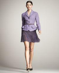 Dior | Purple Printed Pleated Chiffon Skirt | Lyst