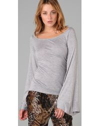 Elizabeth and James - Gray Bell Sleeve Top - Lyst