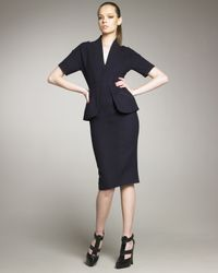 Marc Jacobs | Blue Wool Peplum Dress | Lyst