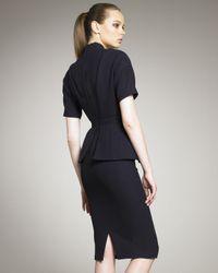Marc Jacobs - Blue Wool Peplum Dress - Lyst