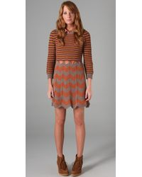 See By Chloé | Brown Striped Sweater Dress | Lyst