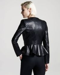 The Row | Black Leather Peplum Jacket | Lyst