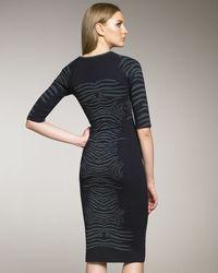 Zac Posen   Blue Animal-print Dress   Lyst