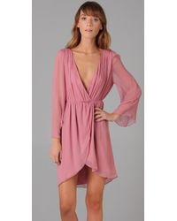 Alice + Olivia - Pink Conry Bell Sleeve Dress - Lyst
