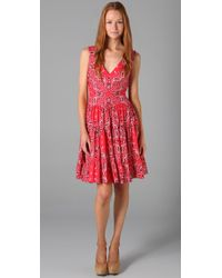 Lucy In Disguise | Red Honky Tonk Printed Cotton Dress | Lyst