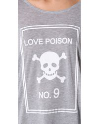 Wildfox | Gray Love Poison Tee | Lyst