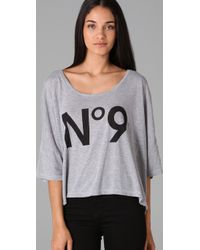 Wildfox | Gray No. 9 Harley Tee | Lyst