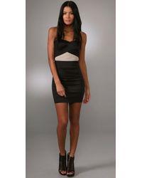 Pleasure Doing Business - Black Duo Tone Sweetheart Dress - Lyst