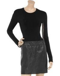 American Retro - Black Willow Ribbed Sweater Bodysuit - Lyst