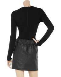 American Retro | Black Willow Ribbed Sweater Bodysuit | Lyst