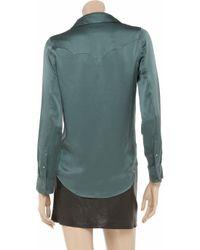 Equipment - Green Power Ballad Silk-satin Shirt - Lyst
