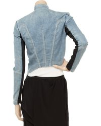 Helmut Lang - Blue Asymmetric Stretch-denim Jacket - Lyst