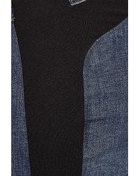 Helmut Lang - Blue Jersey-insert Denim Leggings - Lyst