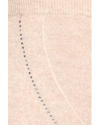 Juicy Couture - Natural Crystal-embellished Cashmere Pants - Lyst