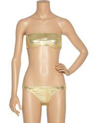 Melissa Odabash - Ibiza Metallic Bandeau Bikini - Lyst