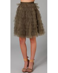 RED Valentino | Green Tutu Skirt | Lyst