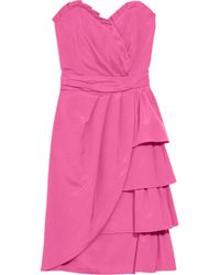 Temperley London | Pink Mini Tia Silk-blend Dress | Lyst