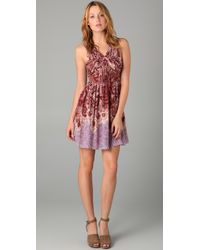 Tibi - Pink Paisley Pleated Dress - Lyst