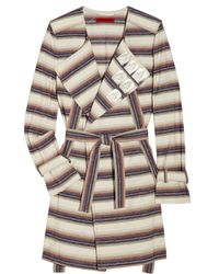 Vivienne Tam | Metallic Plaque-embellished Striped Cotton-blend Jacket | Lyst