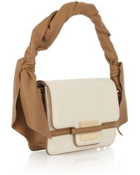 Z Spoke by Zac Posen | Natural Twist-strap Canvas and Leather Bag | Lyst