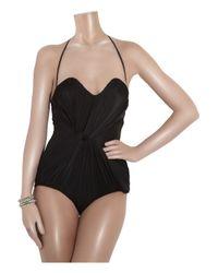 Zimmermann - Black Orchid Twist Bandeeau Swimsuit - Lyst