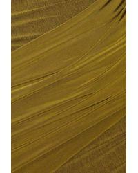 Donna Karan | Green Asymmetric Stretch-jersey Dress | Lyst